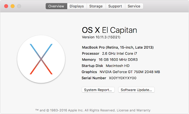 Encontrar versión Mac