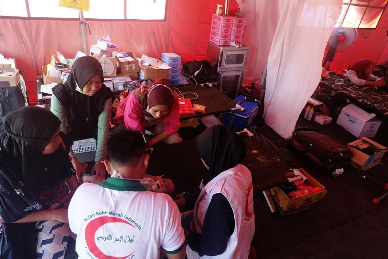 Anak-anak Korban Gempa Lombok Mulai Terserang Penyakit