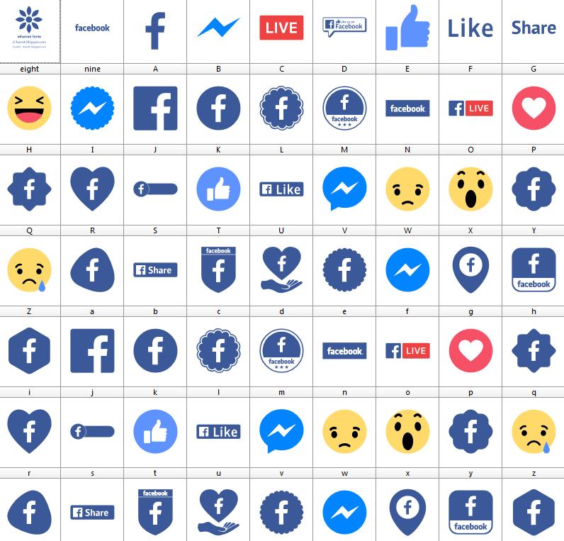 Download Font Facebook Color font ttf otf 2019 font logos facebook font icons facebook