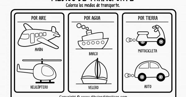 Transportes Por Tierra Para Colorear: Recursos De Laura Para Educación Infantil: Colores Los