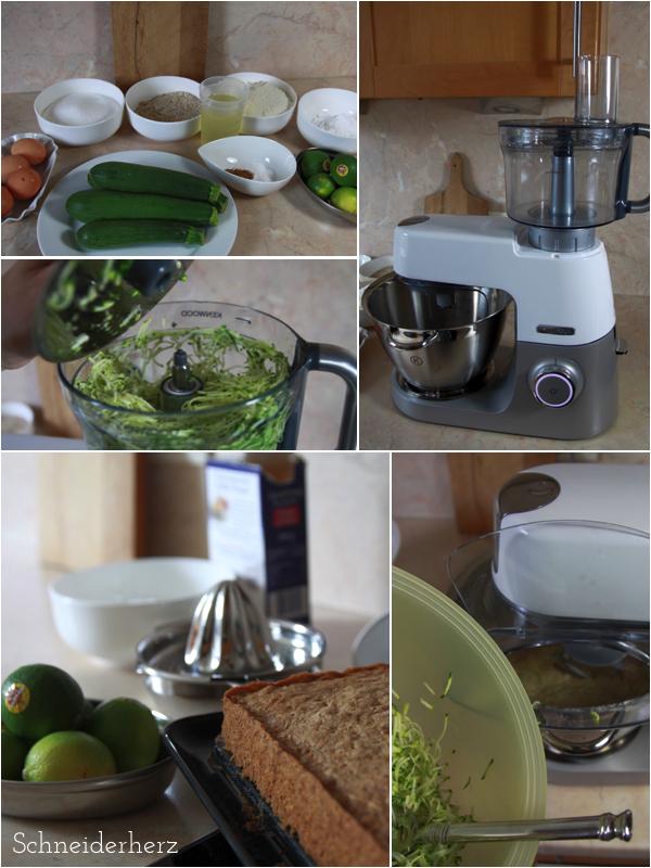 Küchenhelfer Chef Sense von Kenwood Zucchinikuchen