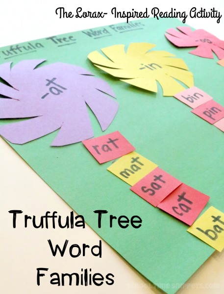 word family reading activity