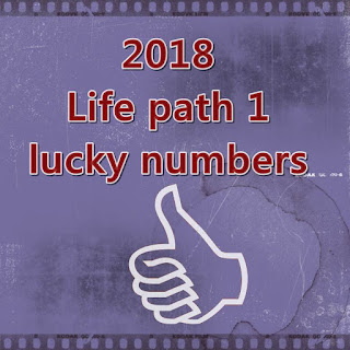 2018 life path 1 lucky numbers in love an money