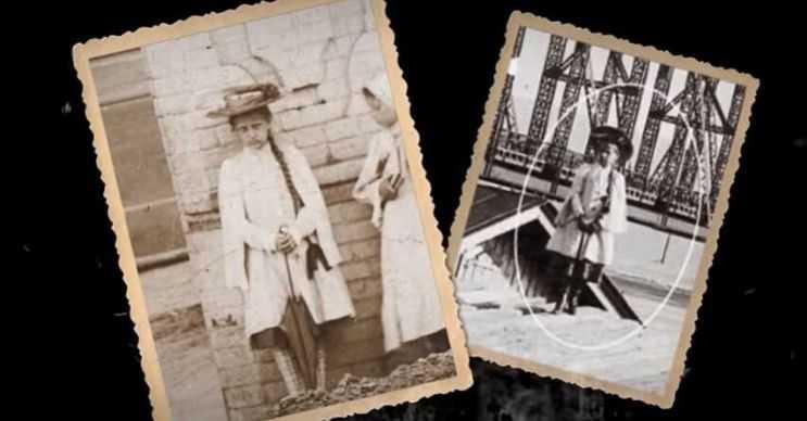 Hayalet olduğu düşünülen bu kızın fotoğrafları ayrı ayrı günlerde çekilmişti.