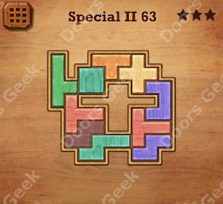 Cheats, Solutions, Walkthrough for Wood Block Puzzle Special II Level 63