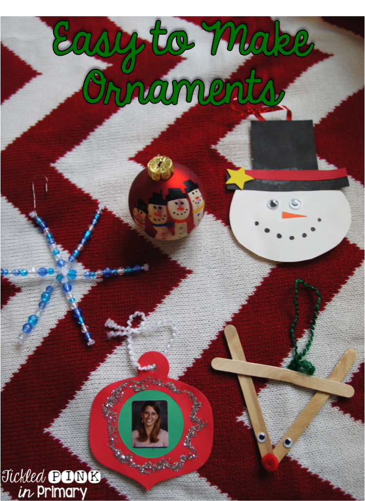 Parent Christmas Gifts - Easy to Make Ornaments