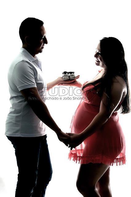 fotos da gravidez em estudio