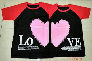 Jual Online Kimono Love Valentine Couple Murah Jakarta Bahan Combed Terbaru