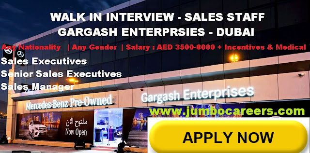 Automobile sales job salary in Dubai. Automobile sales jobs salary in Dubai 2018, Latest walk in for sales and marketing jobs in Dubai fin automotive sector