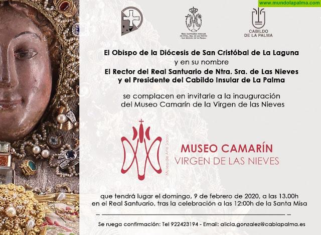 Presentación del cartel y del programa de actos religiosos de la Bajada e inauguración del Museo Camarín de la Virgen de Las Nieves