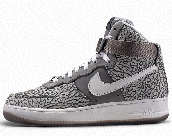 ... with the 1st of February comes Nike iD firsts. The iconic elephant print  or cement pattern is now available as a customization option for Air Force  1 s ... a5986fbfb