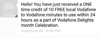 Vodafone to Vodafone 10 Minutes Free Calling