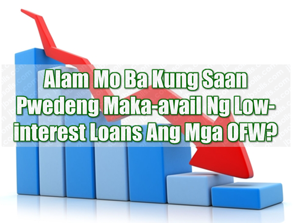 "Our modern heroes, the Overseas Filipino Workers (OFWs) keep the Philippine economy afloat by the remittances they send to their families back home. In return, they can get perks and privileges through private banks and government offices with programs tailor-made just for them. It includes providing low interest loans that can be used by the OFWs to pay for their mortgages, purchase a new house and lot or acquire funds for their business ideas should they want to stay in the country for good.   Government efforts to help the OFW sector is made more evident with the establishment of the Overseas Filipino Bank which will cater the needs of the OFWs.  Advertisement         Sponsored Links       Where can OFWs avail of low interest loan services?  We had listed the government agencies and banks where our modern heroes  can get loans which won't hurt their pocket while paying.     Home Development Mutual Fund (Pag-IBIG) and Social Security System (SSS) OFW Loan  Pag-IBIG offers affordable housing loans to member OFWs who have contributed for 24 months or more. Borrowers should be 65 years old and below, without any outstanding, defaulted, or foreclosed Pag-IBIG loans.  On the other hand, OFWs who have at least 36 months worth of contributions can also apply for a Direct Housing Loan Facility from SSS. However, they can only be granted this housing loan once. You can still qualify for SSS' home loan even if your spouse has availed of it prior to marriage, as long as the OFW Loan is not delinquent.     Bank of the Philippine Islands (BPI) OFW Loan  If you've been working overseas for 2 years and up with a monthly income of P30,000 or more, you may qualify for a BPI Personal OFW Loan and Auto loan. BPI also offers home loans for OFWs who earn a minimum of P40,000.     You must be 21 years old to apply and no more than 60 years old on loan maturity.  loan application can also be made online.  To start with your online loan application, click here.          Security Bank OFW Loan  Security Bank offers Home Loans and Auto Loans to OFWs who have worked abroad for at least 2 years and are earning P40,000 for Home Loans and P50,000 for Auto Loans.    BDO Unibank (BDO) OFW Loan  BDO's Asenso Kabayan Program offers Home, Auto, and Personal OFW Loan options. You must have been employed for at least 2 years with a monthly income of P50,000 for the Auto Loan and P10,000 for all other OFW loan types. Borrowers must be 25 years old or older but not more than 65 years old upon loan maturity.   BDO Kabayan Program  BDO Kabayan Personal Loan Unsecured  A multi - purpose and non collateral Personal Loan for OFWs with fixed income.  BDO Kabayan Personal Loan Secured  The Personal Loan for OFWs is offered against hold-out on Joint or Individual account deposits maintained with BDO as security.  The following are the type of deposits allowed for this facility:  Peso or Dollar Savings Account  Peso or Dollar Time Deposit – at least co-terminous with the loan tenor  The minimum deposit requirement is P15,000 or its dollar equivalent. Though, the loan proceeds will be in Pesos.  Applicant should be the OFW only. However, if the deposit collateral is a joint account, beneficiary may apply as a principal borrower of the loan  The following cannot be allowed to be held as collateral  ""In Trust For"" accounts  Accounts with existing/ongoing hold-out arrangements   Benefits  Flexible loan amounts  Minimum of P10,000   For BDO Kabayan Personal Loan Secured  For Peso account, maximum of 90% of the deposit account balance  For Dollar account , maximum of 80% of the deposit account balance; the prevailing buying rate shall be used to determine peso equivalent.   Fixed monthly payments – pay the same amount every month with any of the following flexible payment terms:  3 months (for Unsecured)  6 months  12 months  18 months  24 months  36 months    Loan proceeds will be credited to BDO account  Top Up Loan Feature  Secure and additional Personal loan equal to or greater than the original Personal Loan (subject to submission of new income documents)  For BDO Kabayan Personal Loan (Secured and Unsecured)  Existing Personal Loan with good standing may qualify for re-availment or top-up plan    Convenient Application  Submit your application at any of our BDO branches nationwide  For our Kabayans working abroad, you may use the BDO Kabayan Application forms by clicking the following links:    BDO Kabayan – Secured    Application Form        Deed of Assignment Form              Special Power of Attorney     Auto-Debit Arrangement Form      Beneficiary Information Form          BDO Kabayan – Unsecured   A multi - purpose and non collateral Personal Loan for OFWs with fixed income.  The requirements are: Application Form  Authorization Form  Auto-Debit Arrangement Form  Beneficiary Information Form   Philippine Savings Bank (PSBank) OFW Loan  OFWs can also avail of Own Your Home and Drive Your Car OFW Loan product. Borrowers have to be 21 years old and up to 65 years old upon loan maturity. You must have worked abroad for a minimum of 2 years with a household income of P30,000.   OFW Bank  Land Bank of the Philippines President and CEO Alex Buenaventura said personal loan application for OFWs Through the newly established Overseas Filipino Bank (OFBank) will be made simple.   OFWs only need to prove that they have a capacity to pay and the loanable amount depends on the purpose of the loan and the bigger the amount, the longer time will be given for the OFWs to pay for their loans. The bank also plans to give a volume discount to lower interest.    Read More:  Beware Of  Fake Online Registration System Which Collects $10 From OFWs— POEA  Is It True, Duterte Might Expand Overseas Workers Deployment Ban To Countries With Many Cases of Abuse?  Do You Agree With The Proposed Filipino Deployment Ban To Abusive Host Countries?"