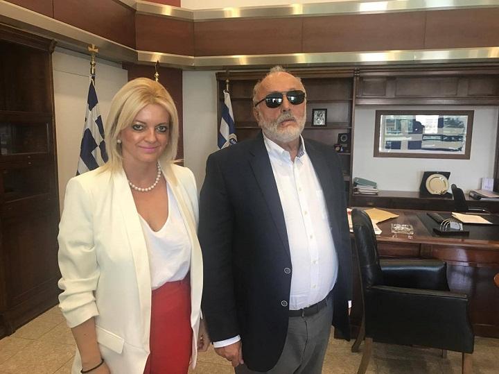 Συνάντηση της Δημάρχου Ιστιαίας-Αιδηψού με τον Υπουργό Ναυτιλίας