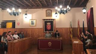 Sala de sesiones del Ayuntamiento de Traiguera.