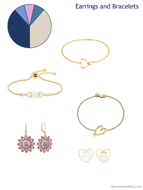 adding bracelets and earrings to a 6 by 4 Accessory Wardrobe