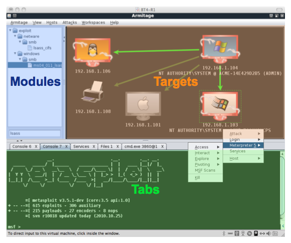 Armitage Update : Graphical cyber attack management tool for Metasploit