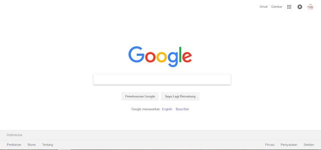 Halaman Utama Google Sebagai Laman Statis