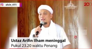 Pesan Ustadz Arifin Ilham sebelum Wafat. Beliau sempat berpesan via video soal ajal dan sedekah.