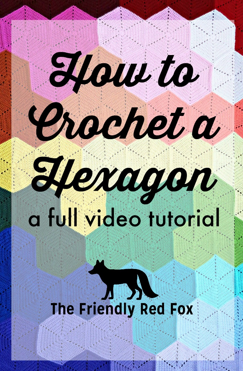 Crochet hexagon video tutorial thefriendlyredfox i made a crochet hexagon blanket but there are a lot of other fun things to make with a crochet hexagon one of my favorites is this hexagonal wall hanging baditri Gallery
