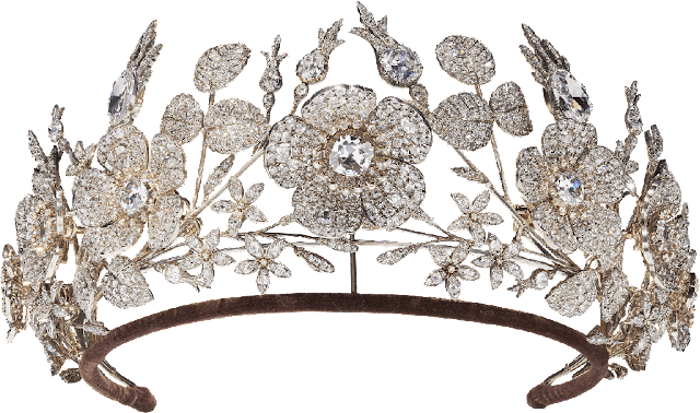 Diamond Floral Tiara Duchess of Bedford Fossin