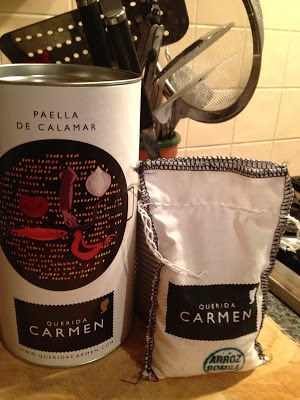 Querida Carmen Squid paella / Paella de Calamar from Grey's Fine Foods with delivery to Great Britain
