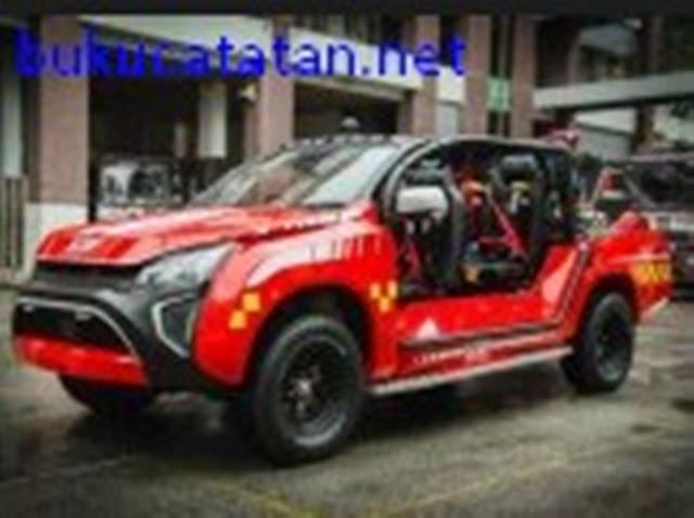 Modifikasi Terbaik Mobil Isuzu D-Max Jadi Pemadam Kebakaran