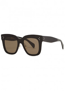 replica celine kim black square-frame sunglasses