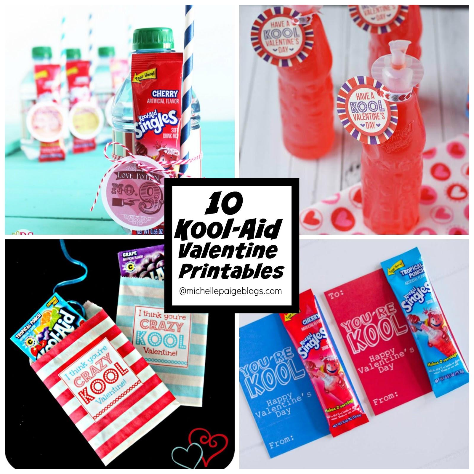 Michelle Paige Blogs 10 Printable Kool Aid Valentines