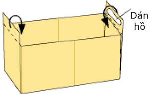 Bước 9: Gấp và dùng keo dán giấy.