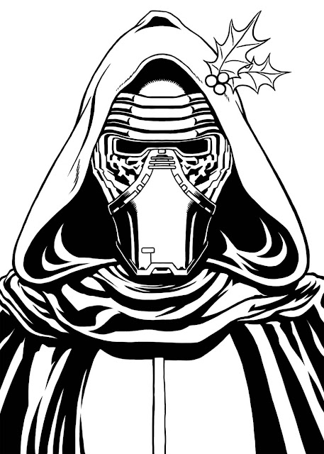 Star wars kylo ren face coloring pages pictures to pin on for Kylo ren coloring page