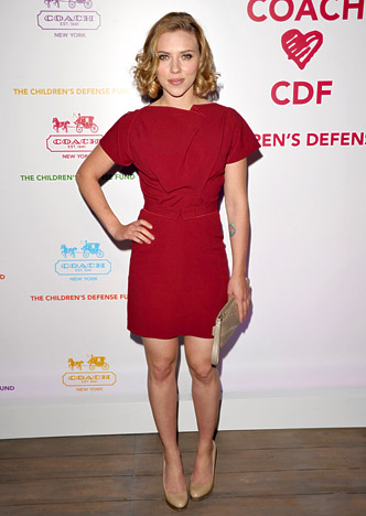 a069f24ad 1) Scarlett Johansson sizzled in a red Roland Mouret fall 2011 mini at a  Wednesday cocktail and shopping benefit for the Children's Defense Fund in  Santa ...