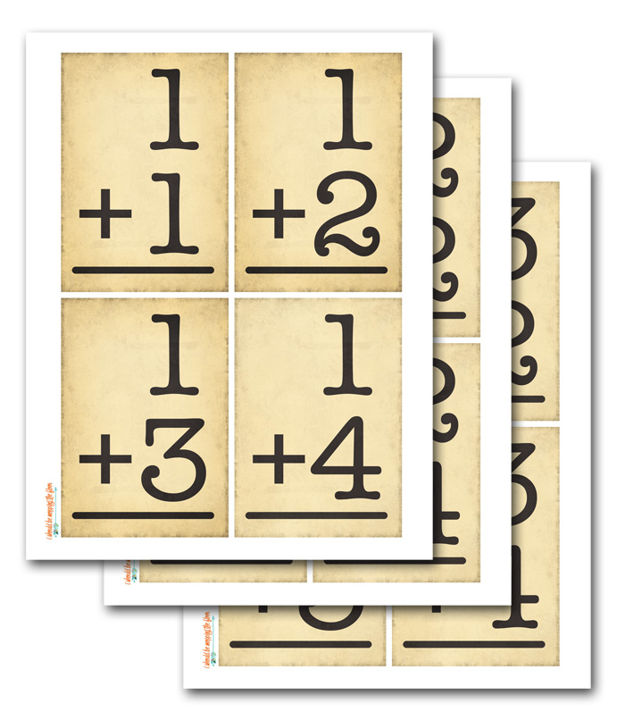 Printable Numerical Flash Cards
