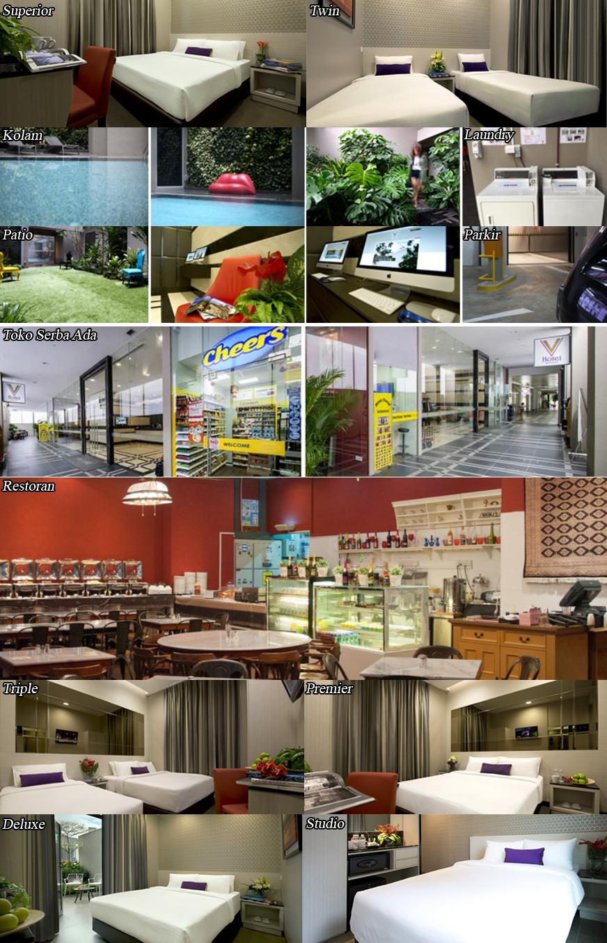 Ini adalah foto lengkap dari V Hotel Bencoolen Singapore mulai dari setiap kamarnya, fasiltias hotel seperti kolam, restoran, laundry, patio, parkir dan sebagainya.