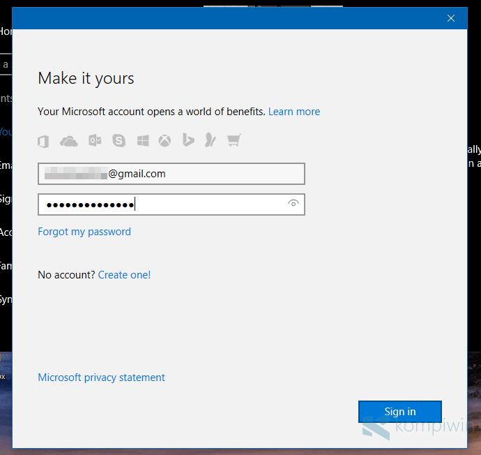 Cara Membuat Akun Microsoft dan Mengganti User Lokal ke Akun Microsoft di Windows 8.1 dan Windows 10 8