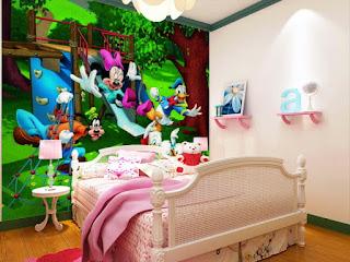 Gambar Desain Wallpaper Dinding Gambar Mickey Mouse