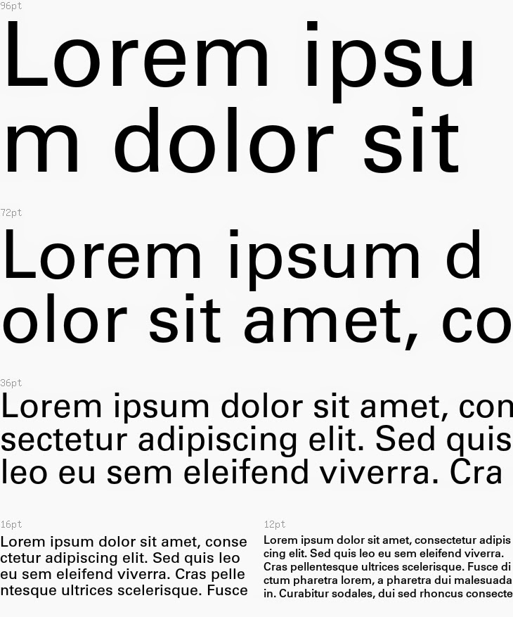 sample of a Univers font used for a blackness coverage test