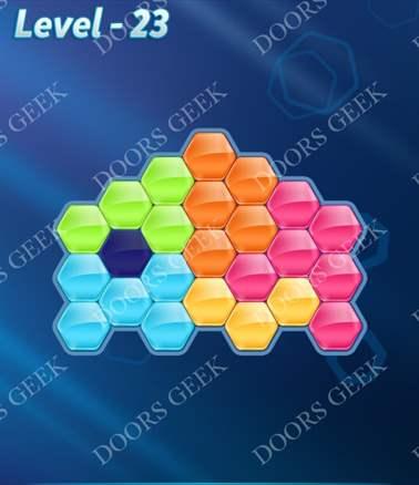 Block! Hexa Puzzle [6 Mania] Level 23 Solution, Cheats, Walkthrough for android, iphone, ipad, ipod