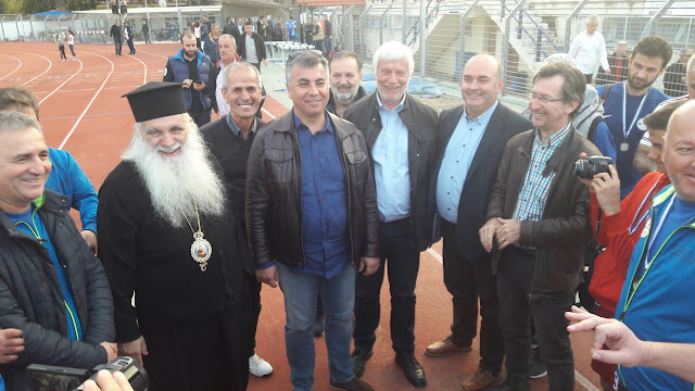 Ο Μητροπολίτης Αργολίδας στον φιλικό αγώνα Ελλάδας Τουρκίας στο Ναύπλιο
