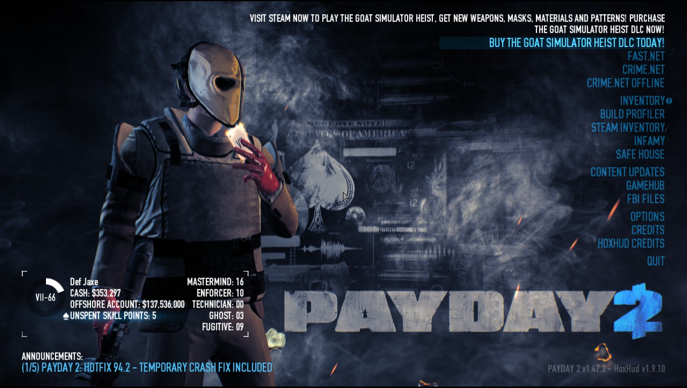 Payday 2 Mod: Six Custom Gloves Colors