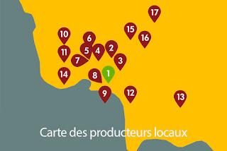 Carte des produits belges et/ou locaux