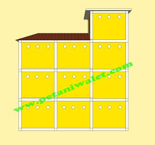 Desain Gedung Walet Ukuran 4x12 m Lengkap