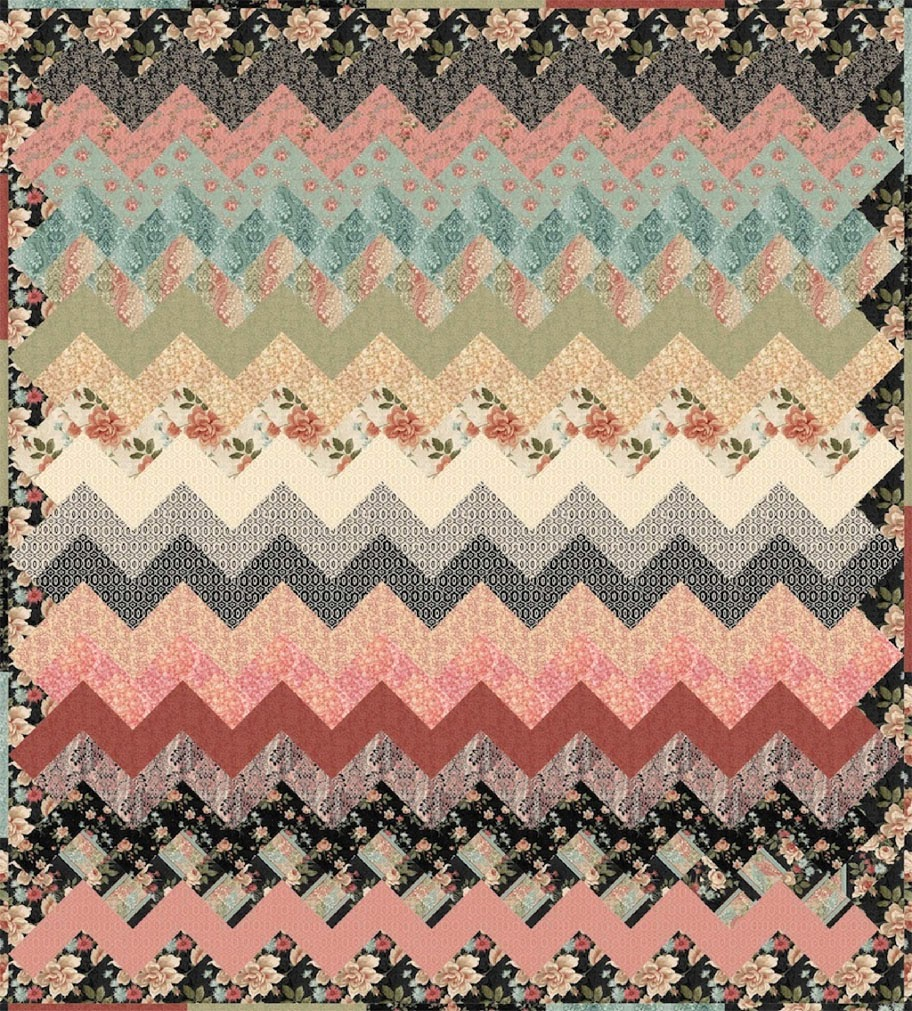 photograph about Free Printable Chevron Quilt Pattern called Impressed through Material: Totally free Quilt Models