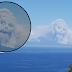 Imagem de um Crânio surge na fumaça da ilha do sul do Vulcão Vesúvio