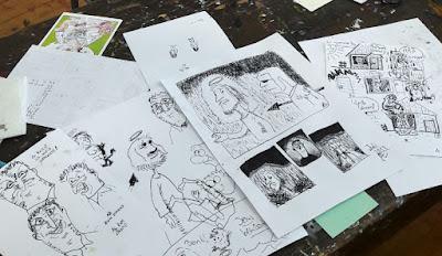MirRoy Comic-Kurs in der Kunstwerkstatt Gmünd, Kärnten