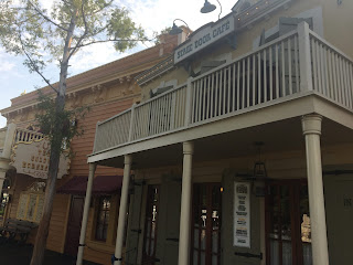 Facade of the Stage Door Cafe at Disneyland