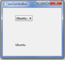 wxpython widgets wx ComboBox   Tutorial101