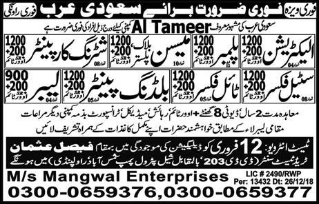 Jobs In KSA Kingdom Saudi Arabia
