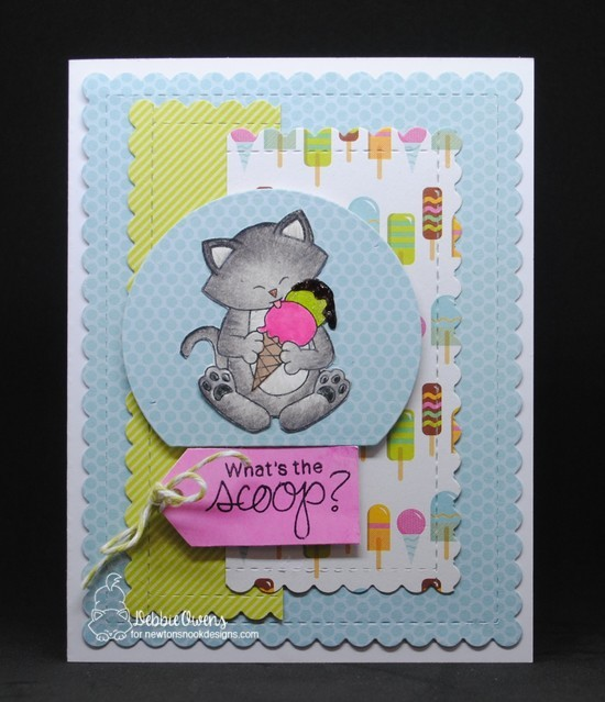 What's the scoop by Debbie features Newton's Summer Treats, Summer Scoops, Frames & Flags, and Snow Globe by Newton's Nook Designs; #newtonsnook