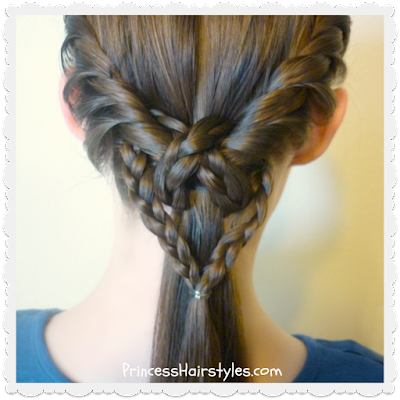 heart ponytail with twists